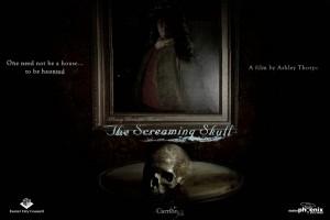 Screaming skull poster