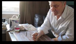 Robert Thorpe makiing the Borley Rectory Ouija board