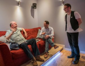 Jonathan Rigby Reece Shearsmith and Ashley Thorpe Trident Studios